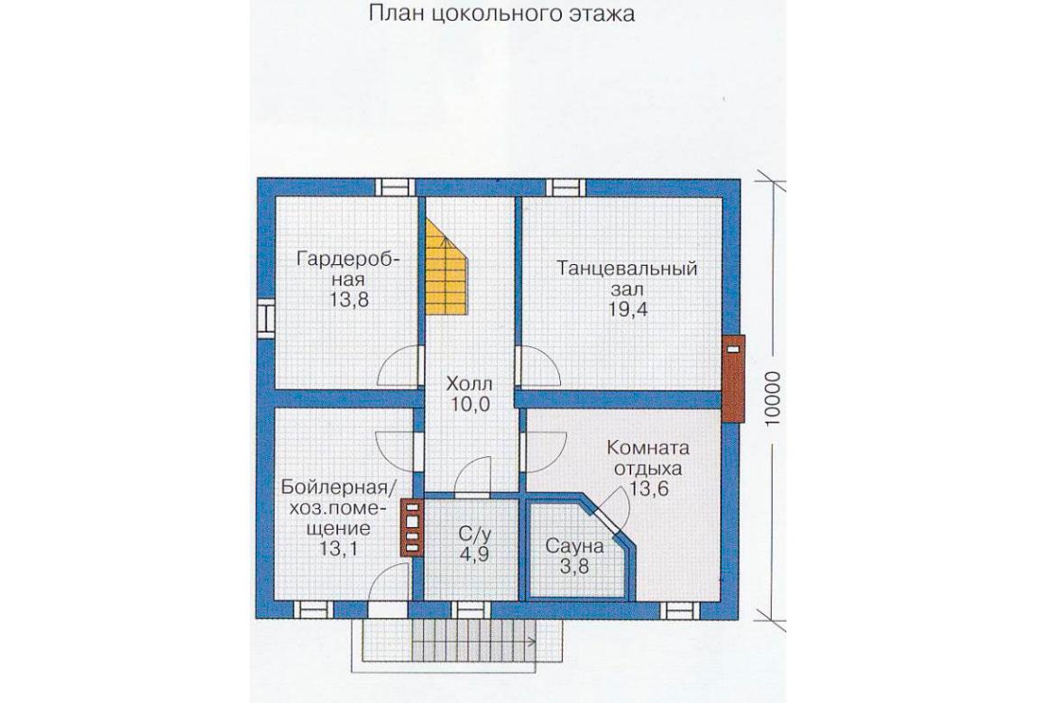 План N3 проекта дома из блоков АСД-1179