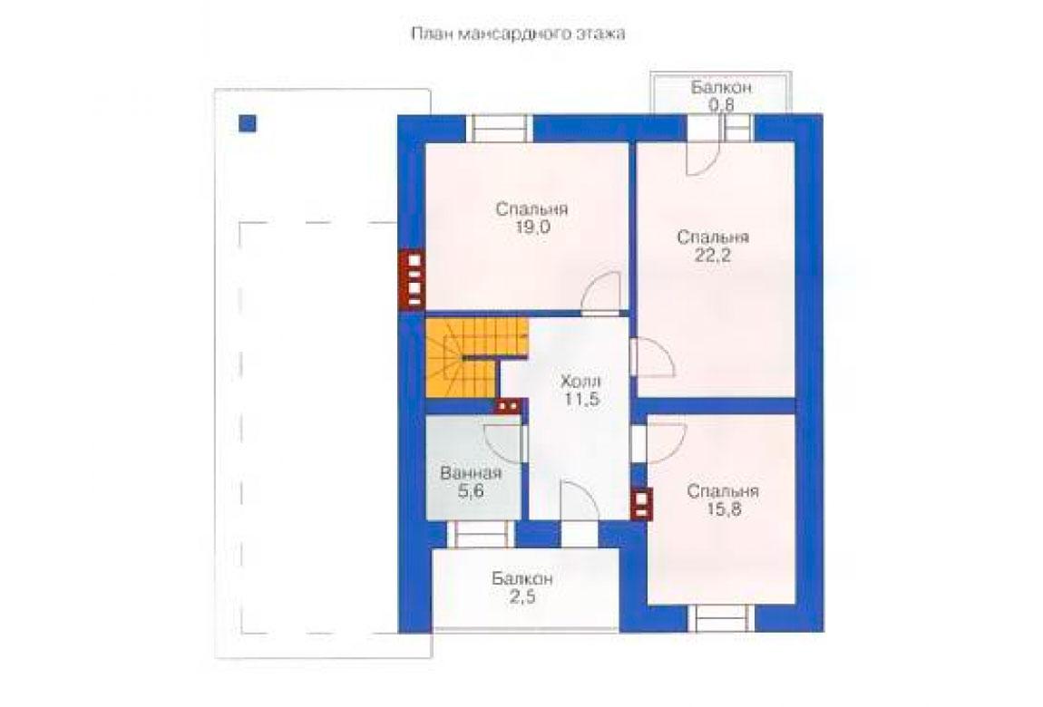 План N2 проекта кирпичного дома АСД-1018