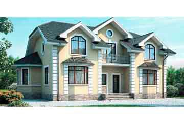 Проект дома из блоков АСД-1180