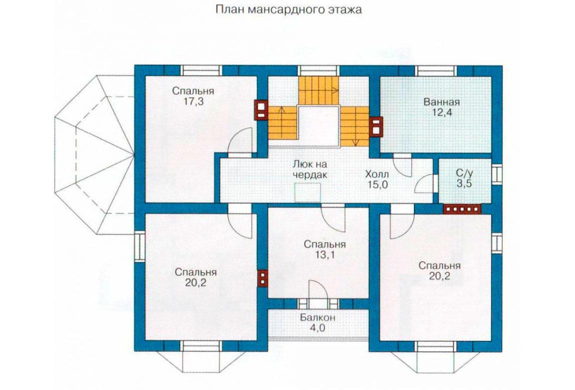 План N2 проекта дома из блоков АСД-1180