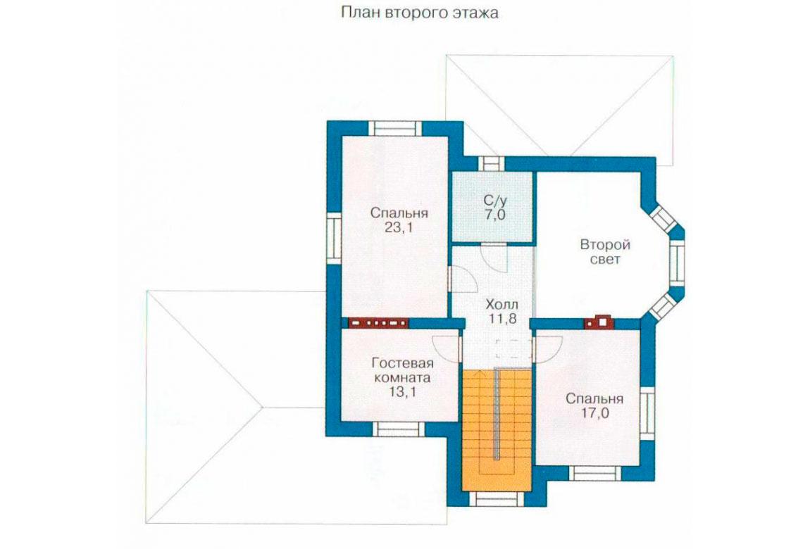 План N1 проекта дома из блоков АСД-1181