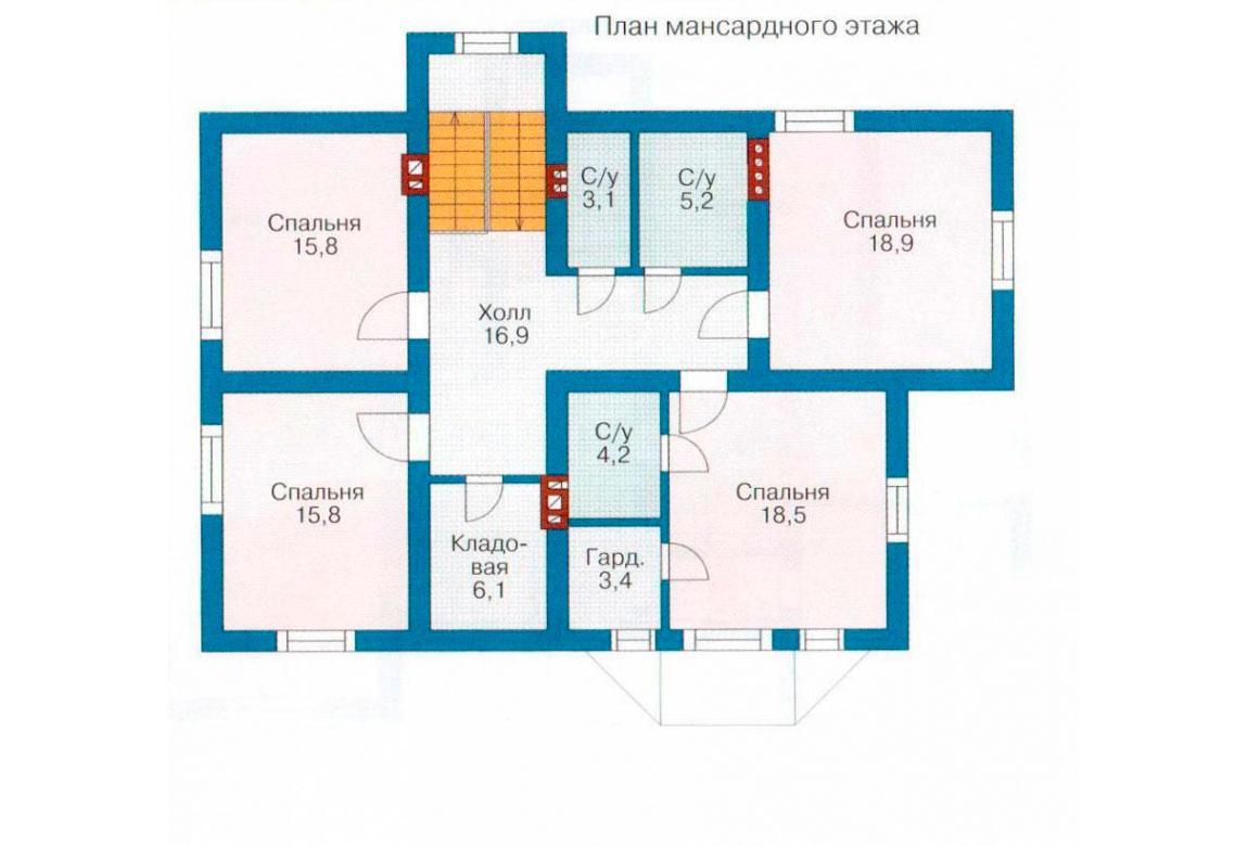 План N2 проекта дома из блоков АСД-1183