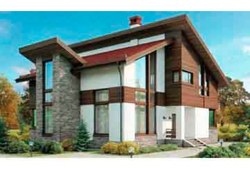 Проект дома из блоков АСД-1184