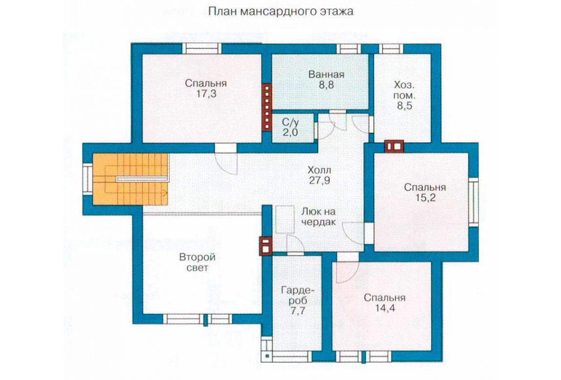 План N2 проекта дома из блоков АСД-1184