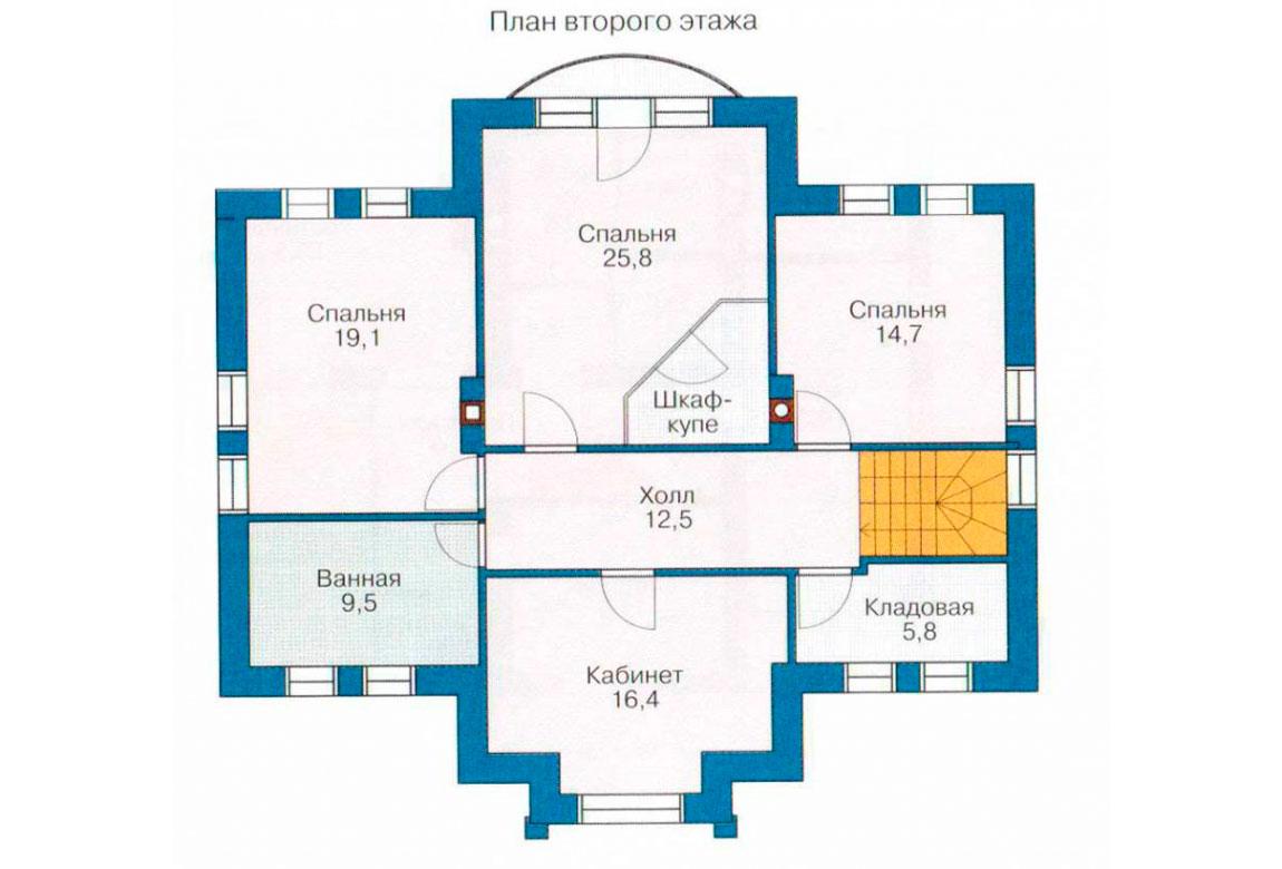 План N1 проекта дома из блоков АСД-1185