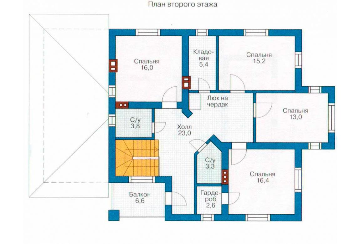 План N2 проекта дома из блоков АСД-1187
