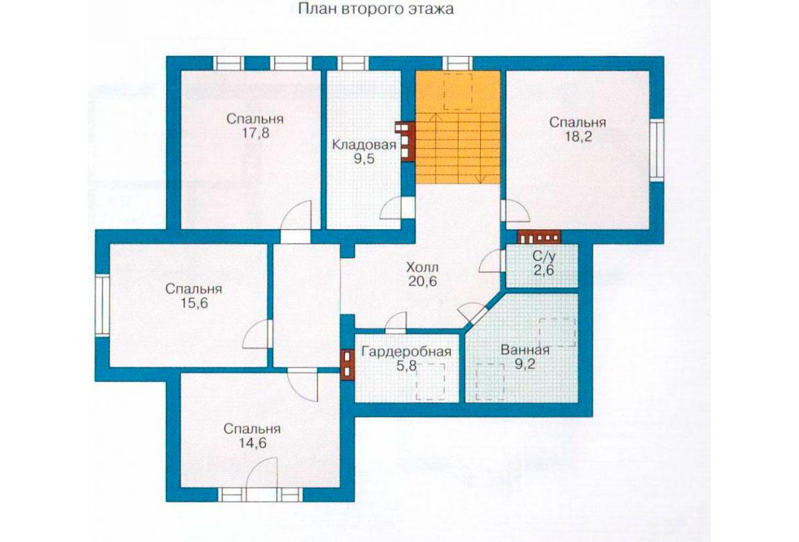 План N1 проекта дома из блоков АСД-1188