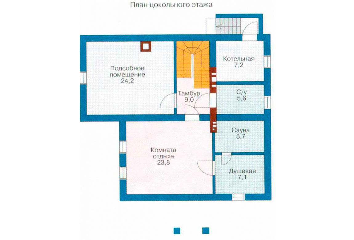 План N1 проекта дома из блоков АСД-1189