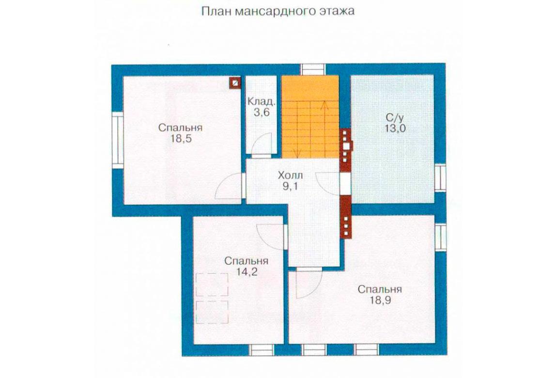 План N3 проекта дома из блоков АСД-1189