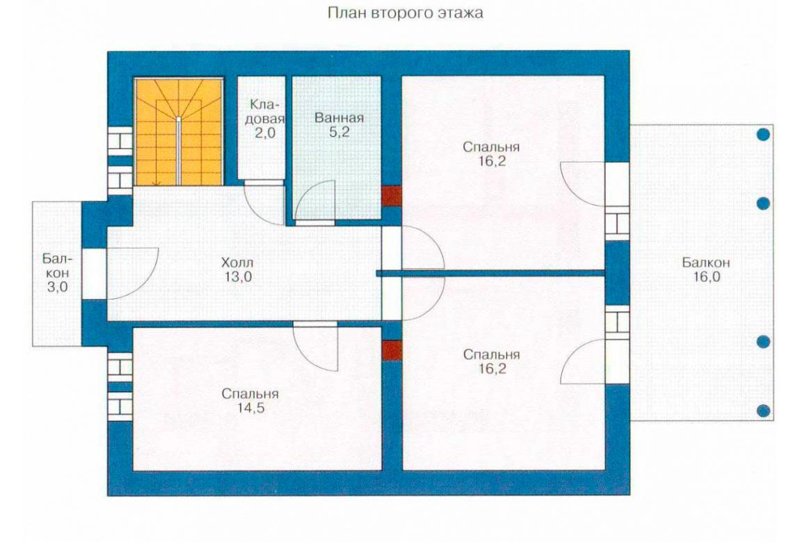 План N1 проекта кирпичного дома АСД-1019