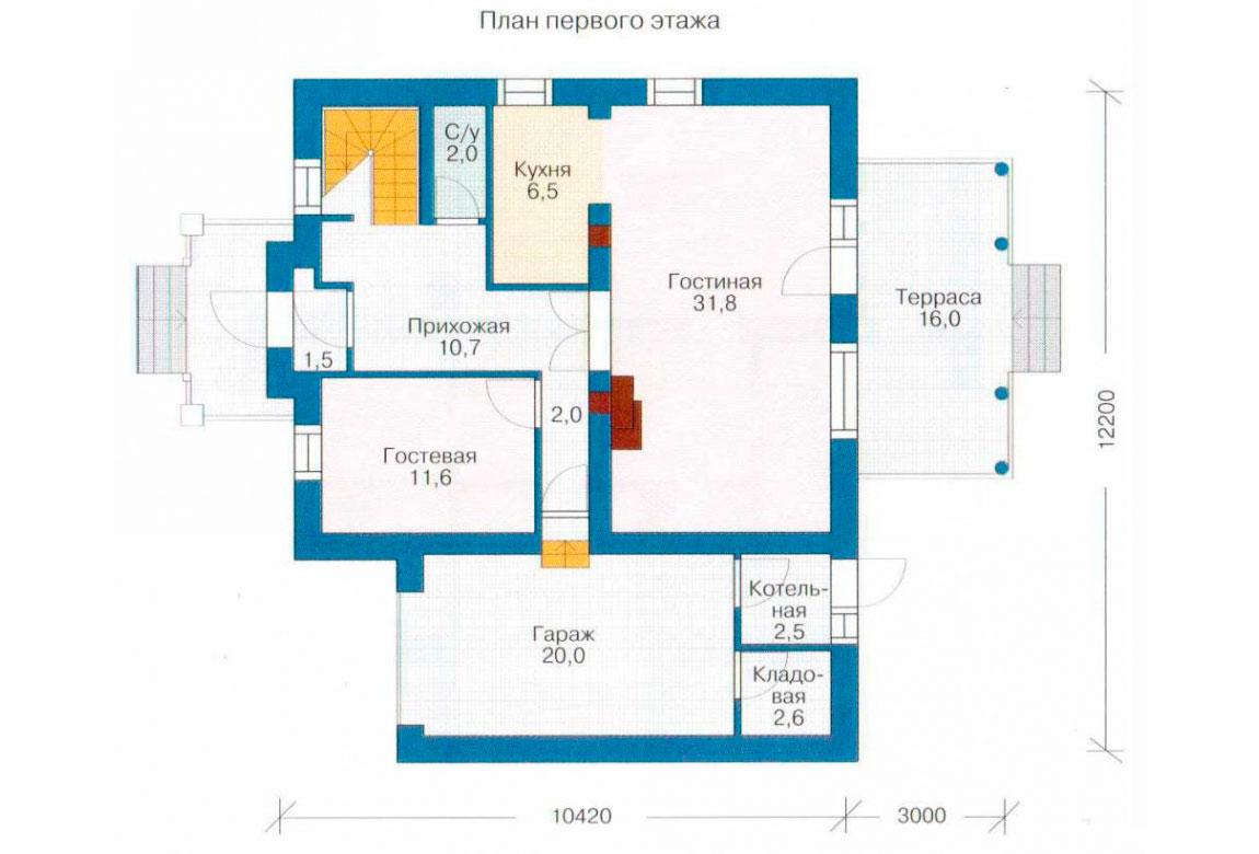 План N2 проекта кирпичного дома АСД-1019