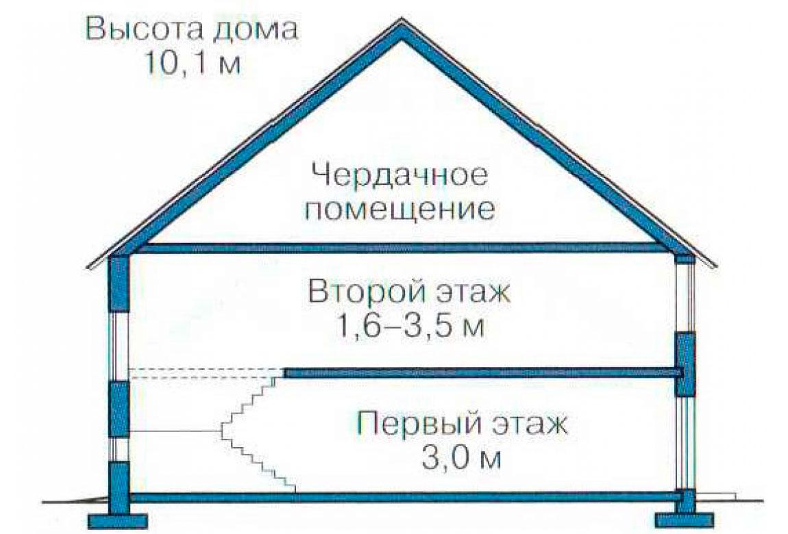 План N3 проекта кирпичного дома АСД-1019