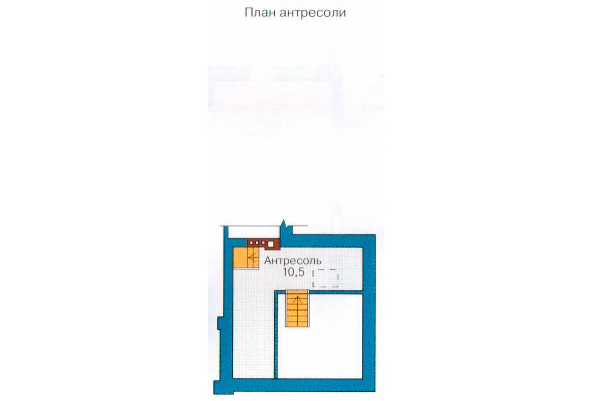 План N1 проекта дома из блоков АСД-1190