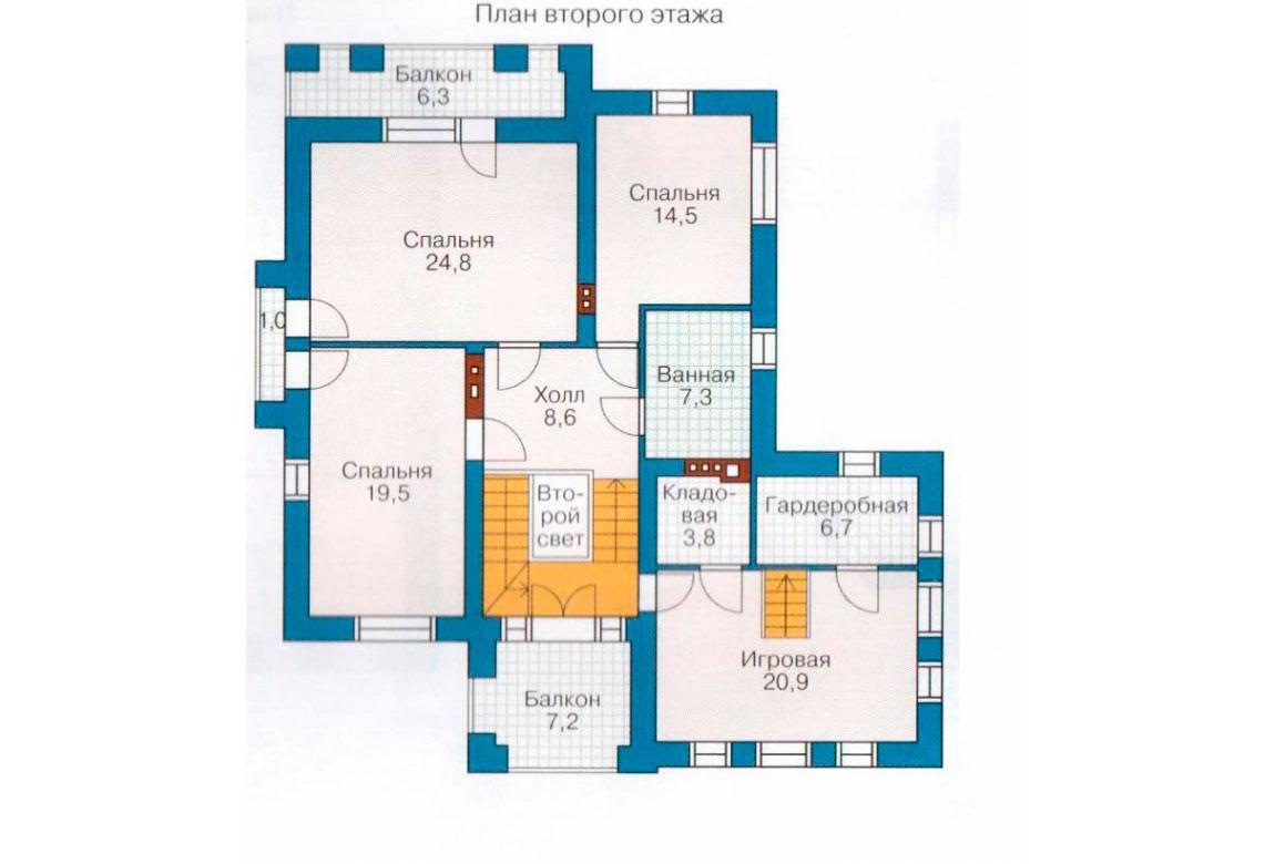 План N2 проекта дома из блоков АСД-1190