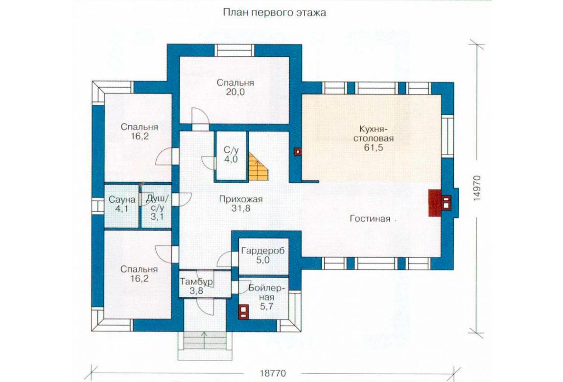 План N2 проекта дома из блоков АСД-1191