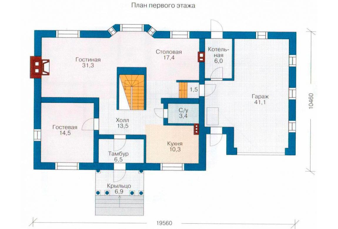 План N2 проекта дома из блоков АСД-1193