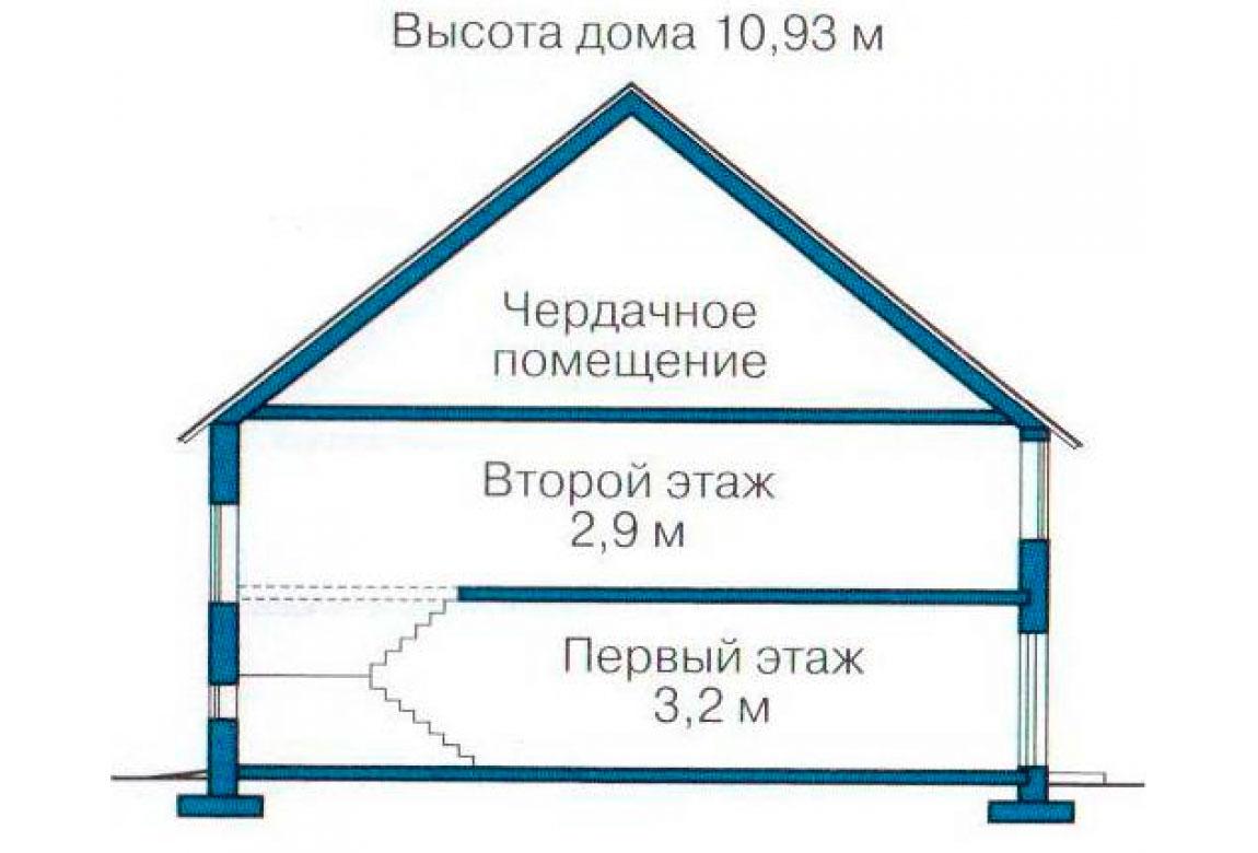 План N3 проекта дома из блоков АСД-1193