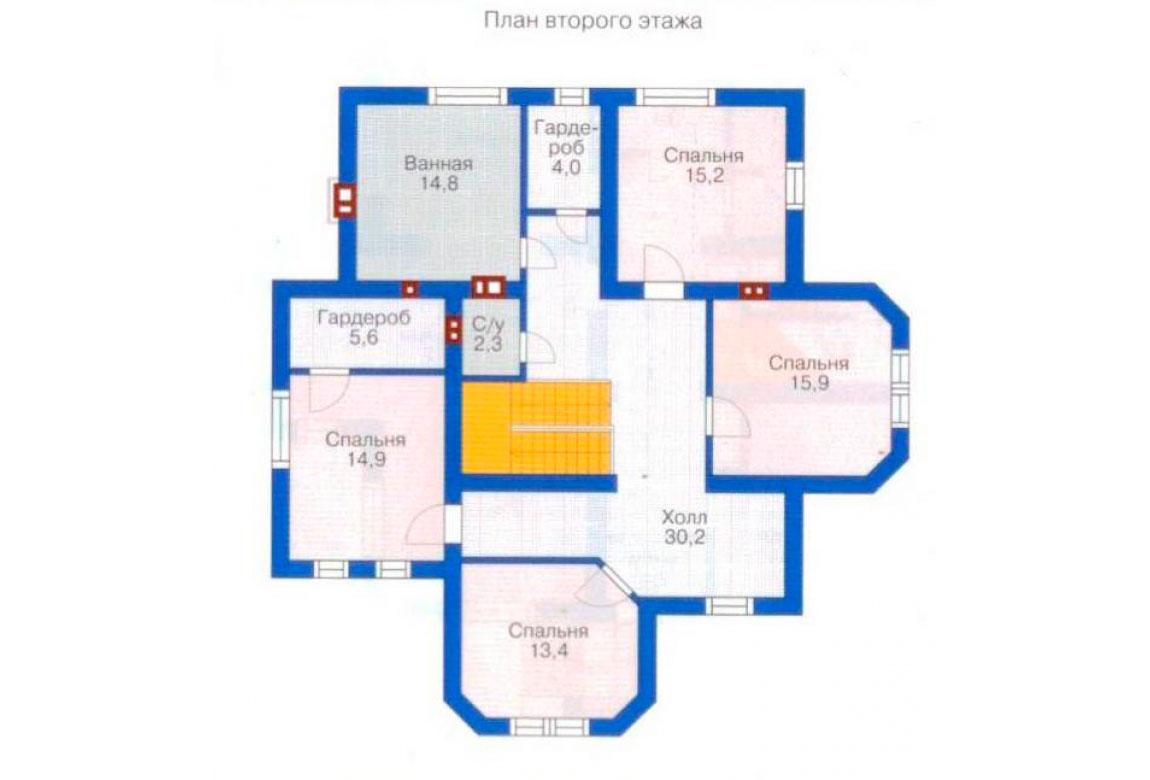 План N1 проекта дома из блоков АСД-1196