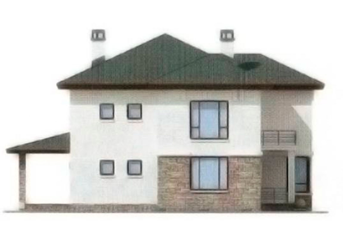 Проект дома из блоков АСД-1197 (uploads/gss/goods/197/big_2.jpg).