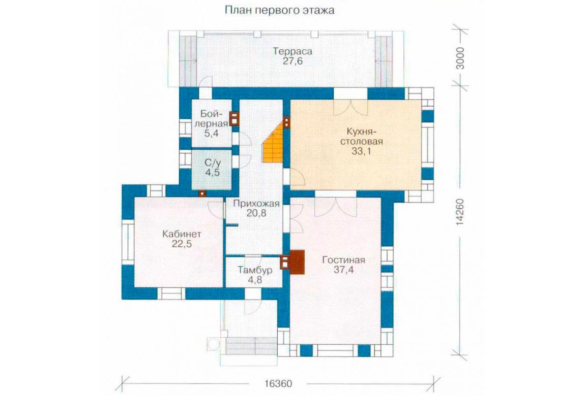 План N2 проекта дома из блоков АСД-1197