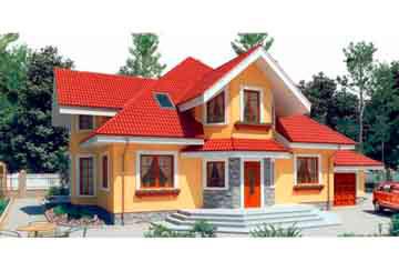 Проект дома из блоков АСД-1198