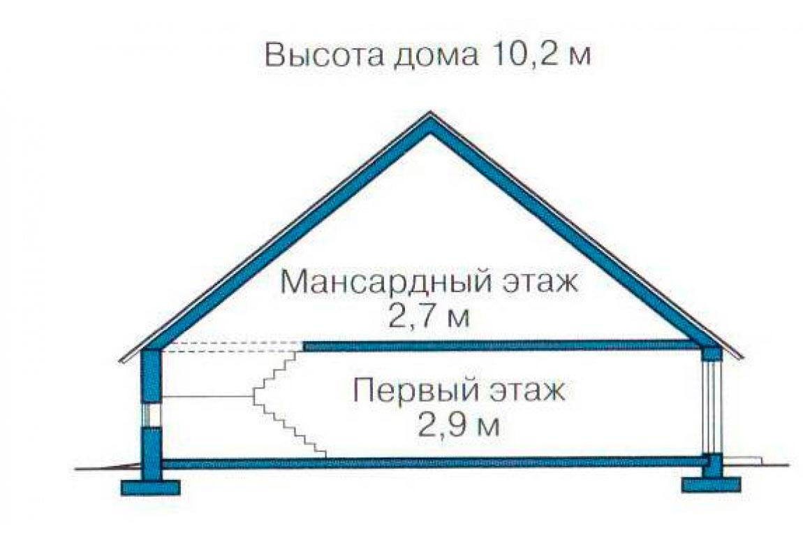 План N3 проекта дома из блоков АСД-1199
