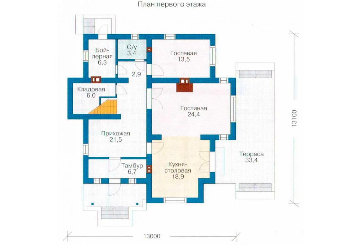 План N2 проекта кирпичного дома АСД-1020