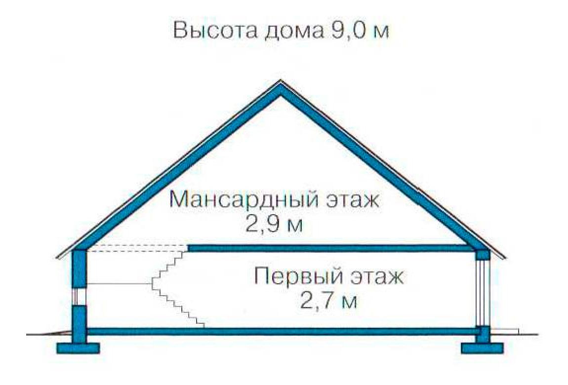 План N3 проекта кирпичного дома АСД-1020