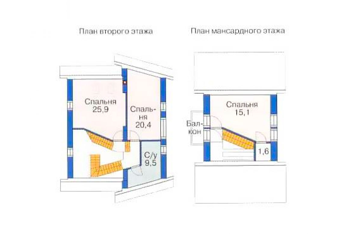 План N1 проекта дома из блоков АСД-1200
