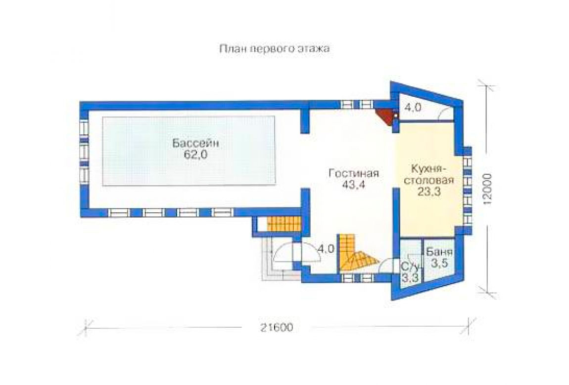 План N2 проекта дома из блоков АСД-1200