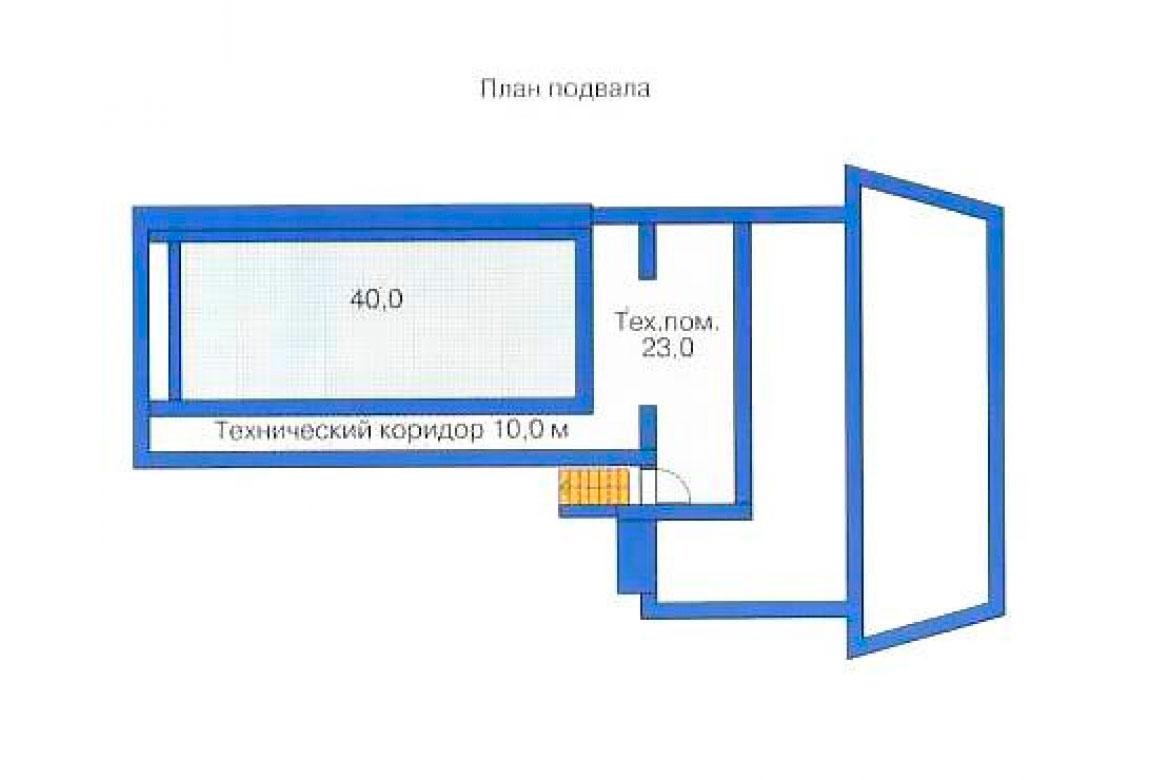 План N3 проекта дома из блоков АСД-1200