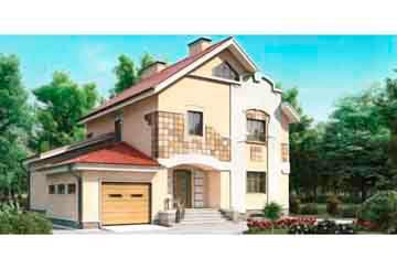 Проект дома из блоков АСД-1201