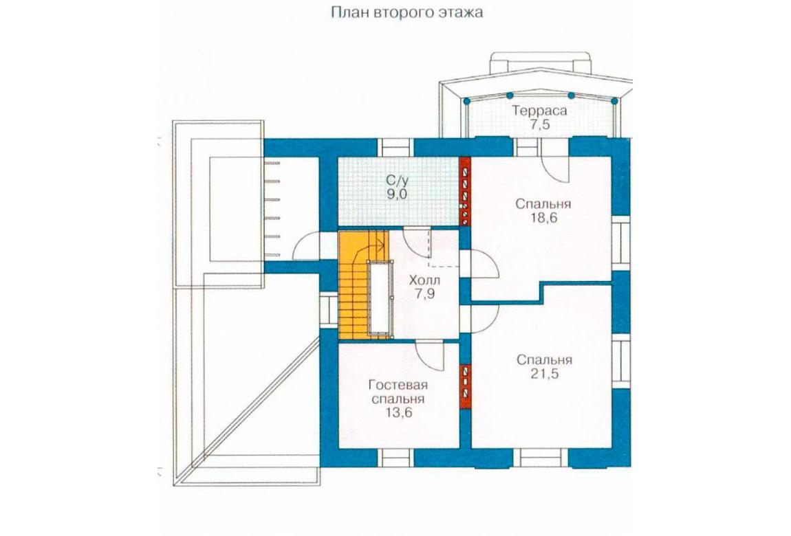 План N1 проекта дома из блоков АСД-1201