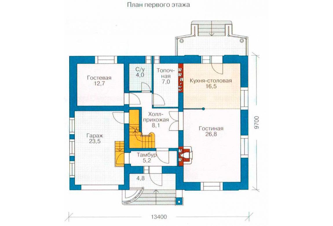 План N2 проекта дома из блоков АСД-1201