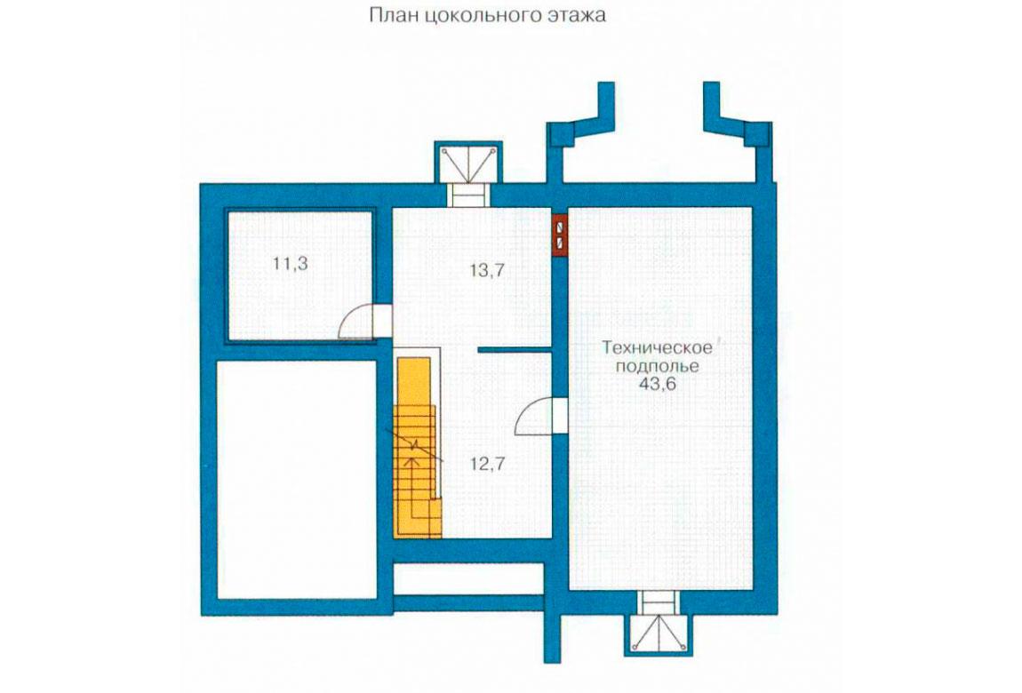 План N3 проекта дома из блоков АСД-1201