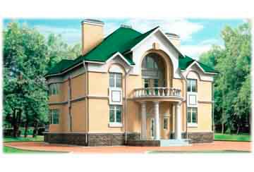Проект дома из блоков АСД-1202