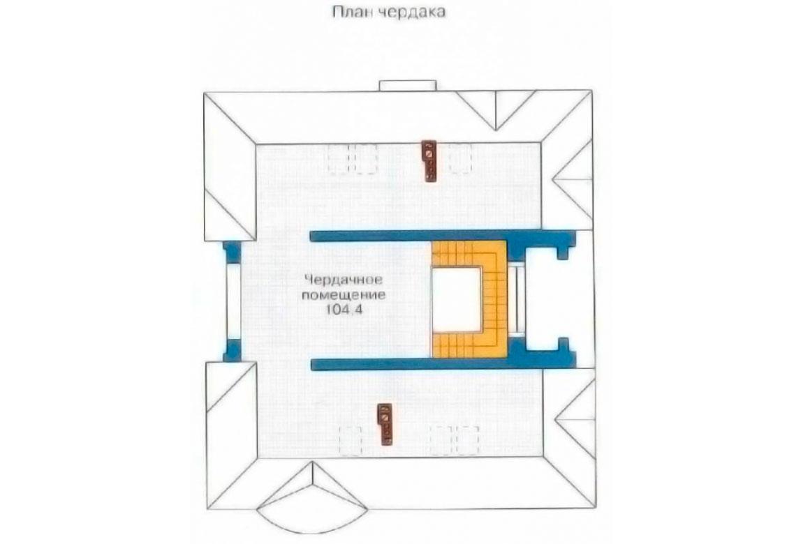 План N3 проекта дома из блоков АСД-1202