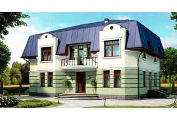 Проект дома из блоков АСД-1204