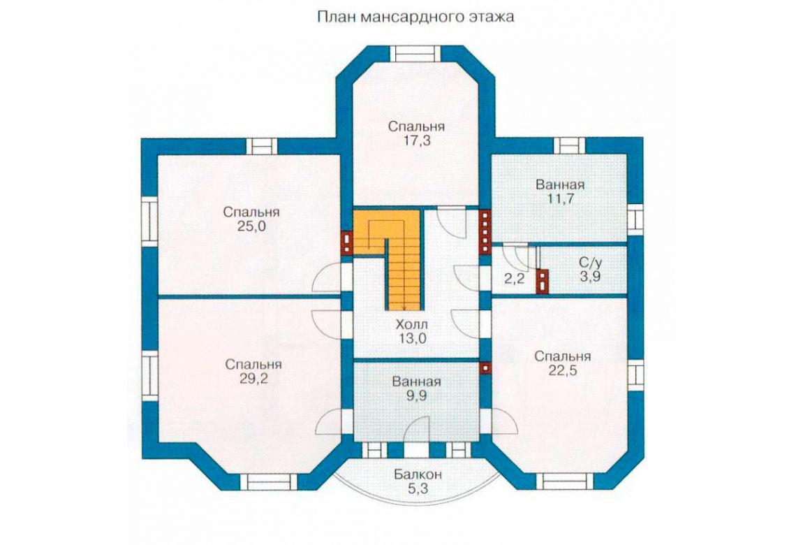 План N2 проекта дома из блоков АСД-1204