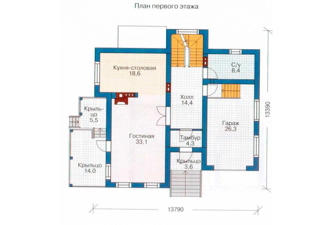 План N2 проекта дома из блоков АСД-1205