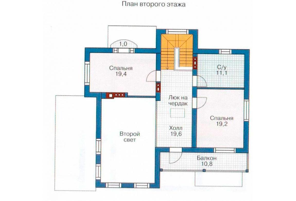 План N3 проекта дома из блоков АСД-1205