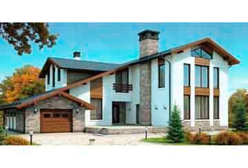 Проект дома из блоков АСД-1206
