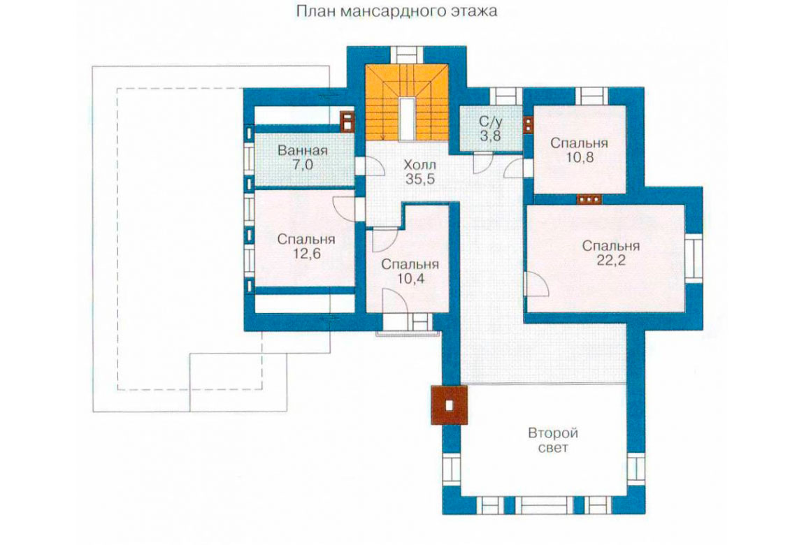 План N1 проекта дома из блоков АСД-1206