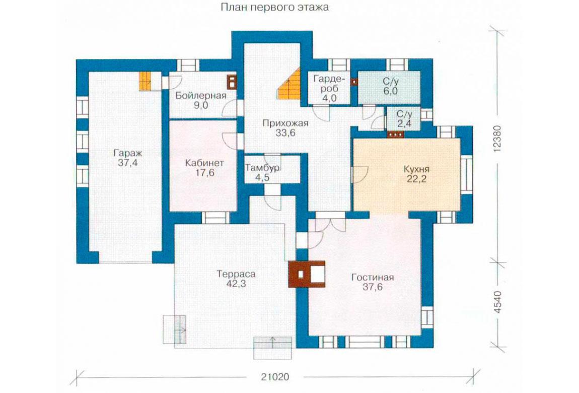 План N2 проекта дома из блоков АСД-1206