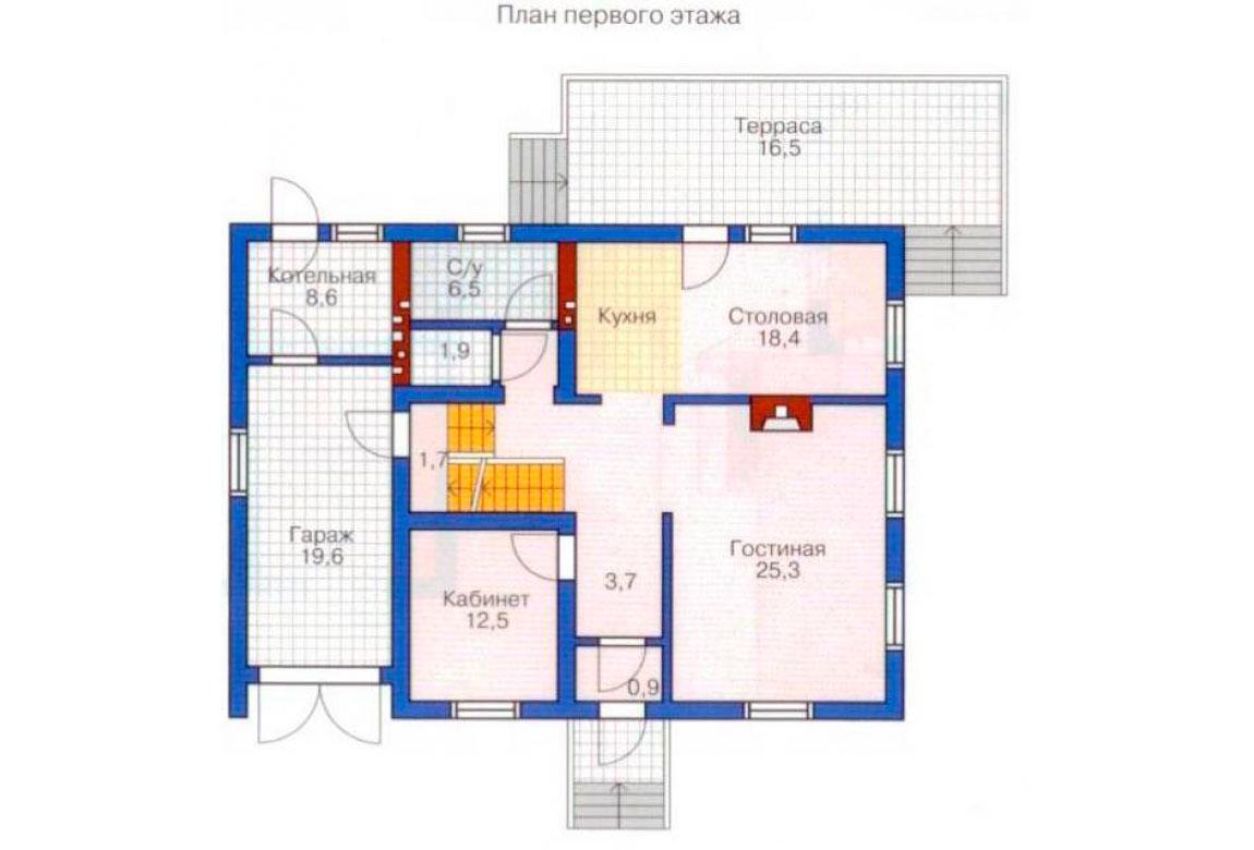 План N2 проекта дома из блоков АСД-1207