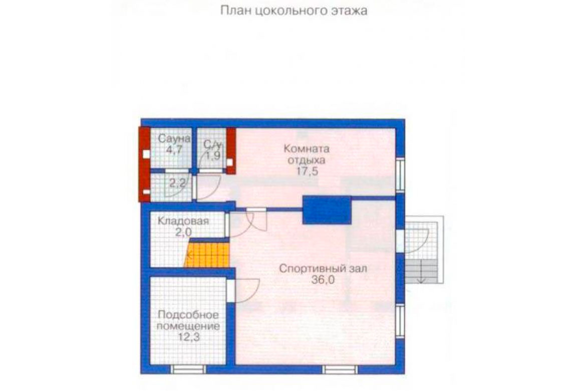 План N3 проекта дома из блоков АСД-1207
