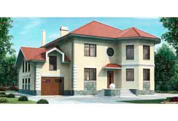 Проект дома из блоков АСД-1208