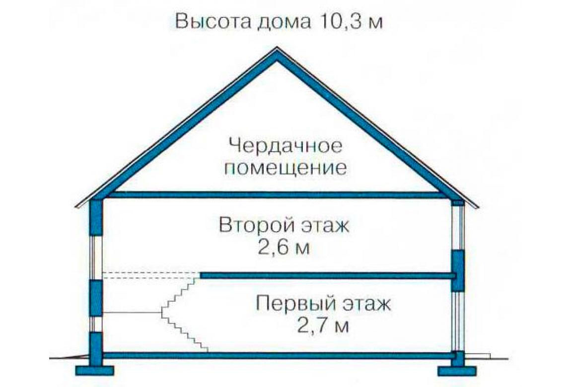 План N3 проекта дома из блоков АСД-1208