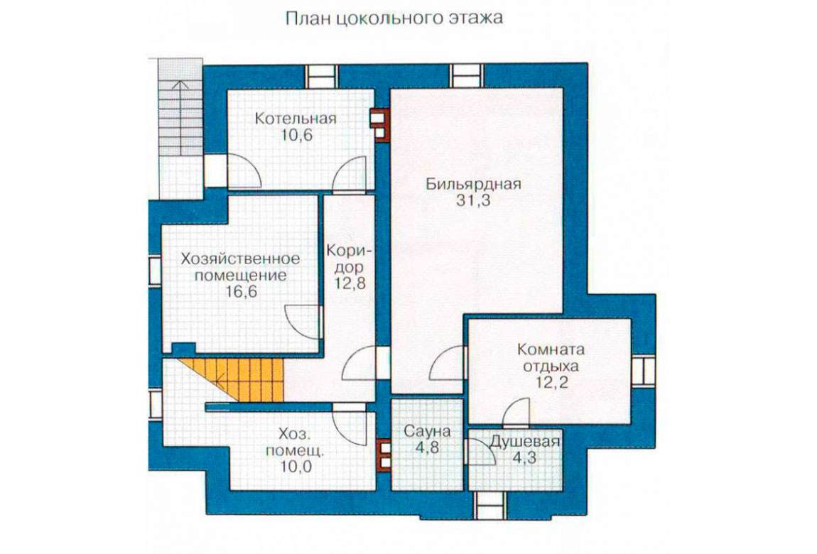 План N1 проекта дома из блоков АСД-1209