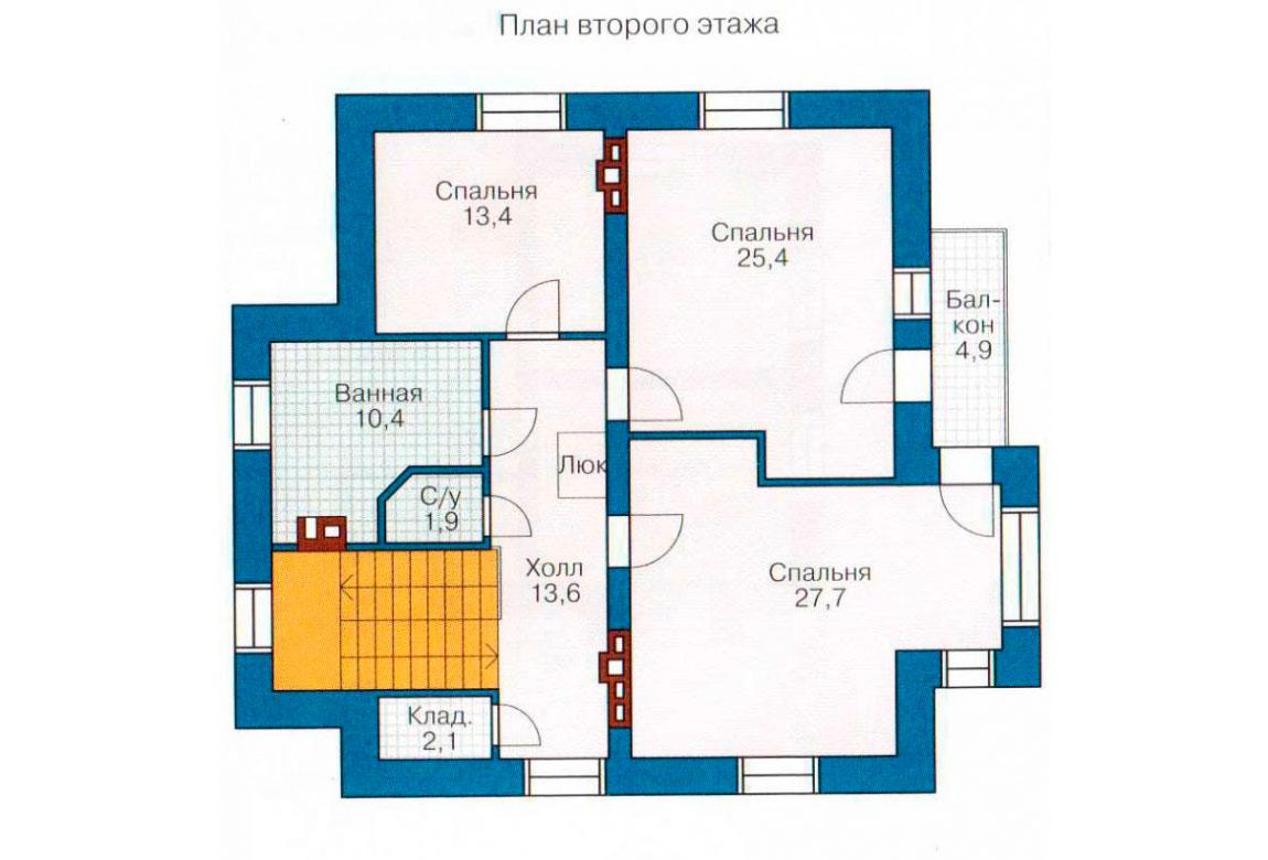 План N3 проекта дома из блоков АСД-1209